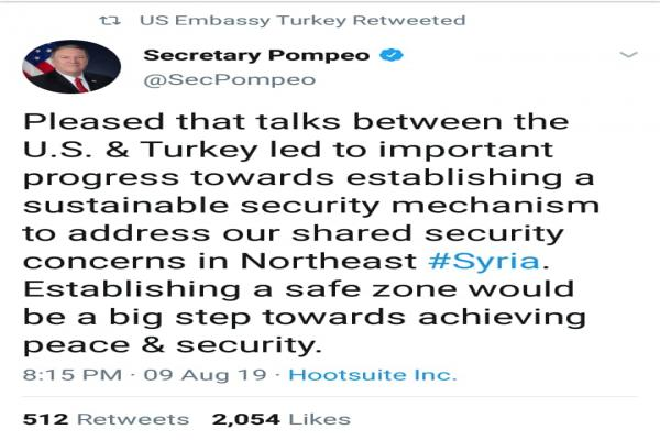 Pompeo: Talks between Turkey, US led to