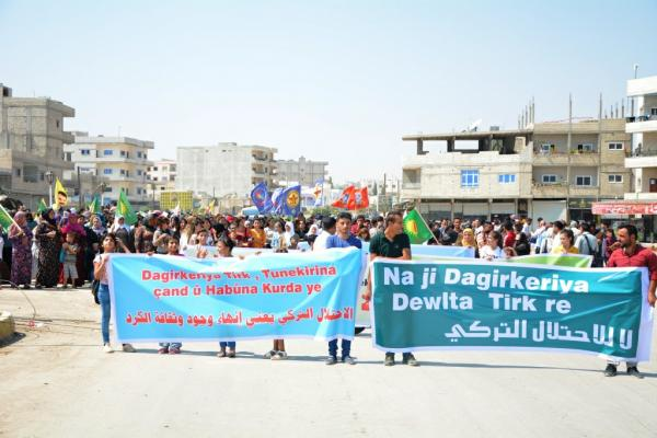 Demo against Turkification policy in Afrin
