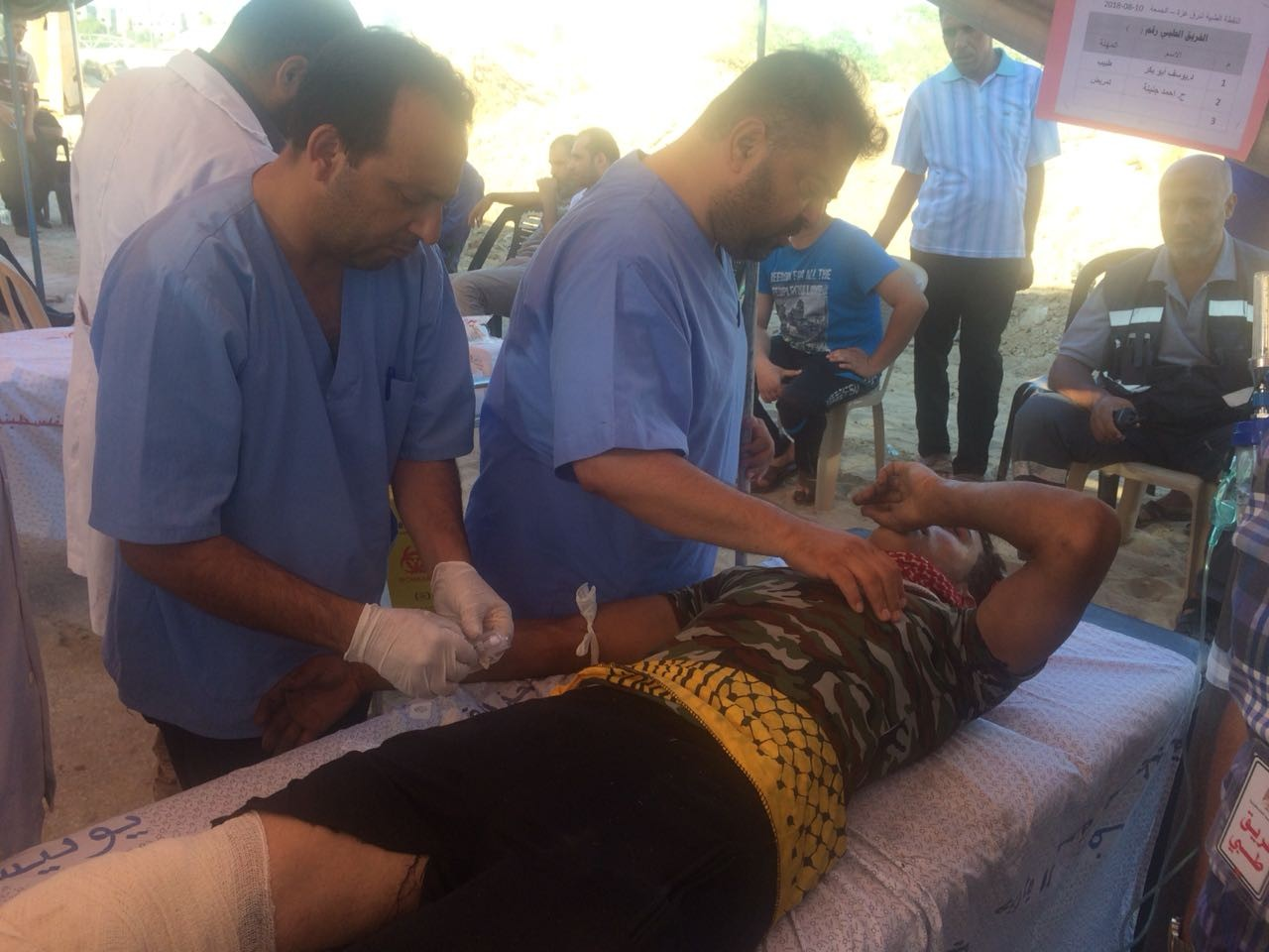 1 Medic lost his life , 84 wounded in Gaza
