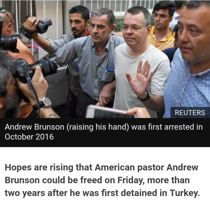 Hopes about American pastor's release raised
