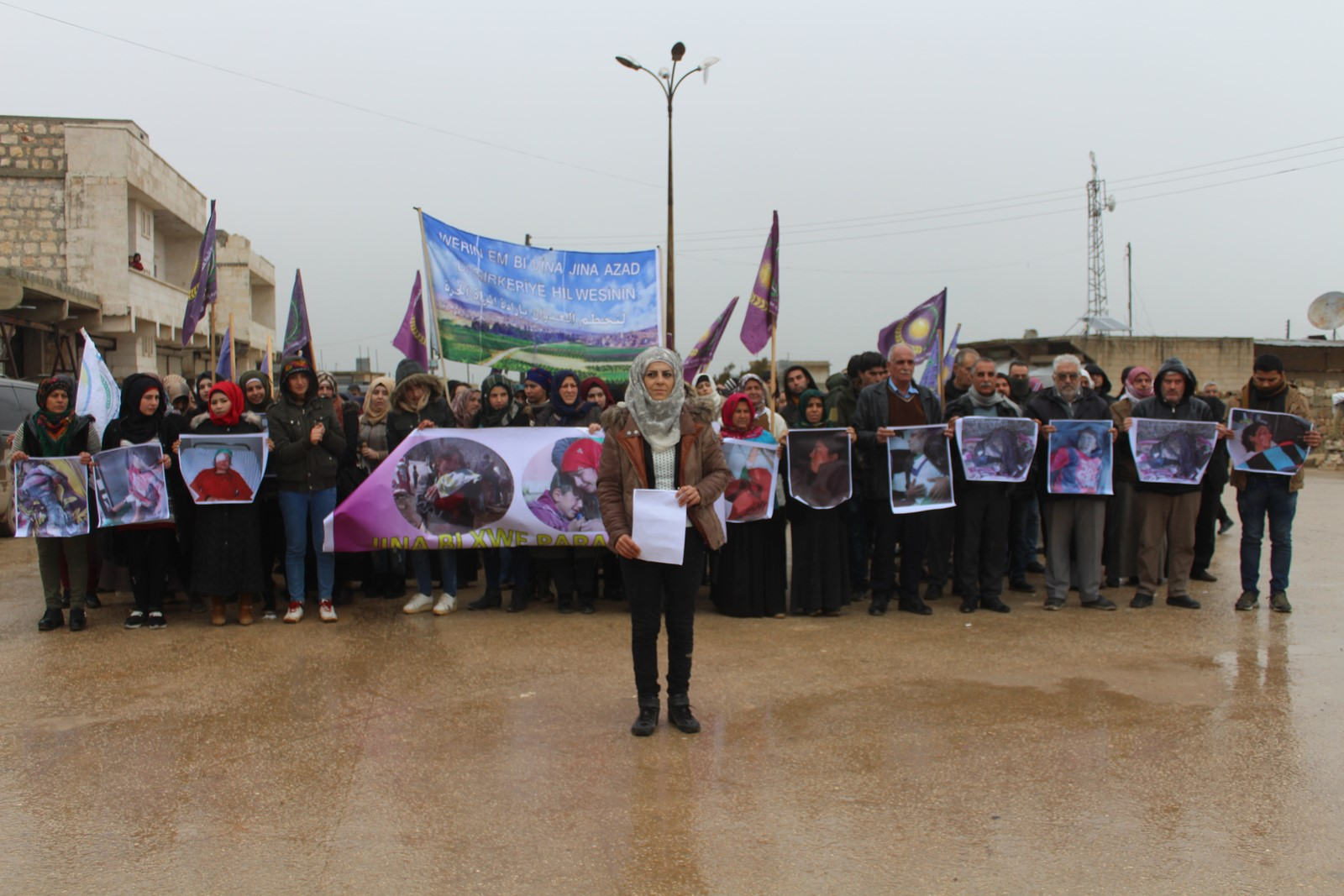 Free Women's Union in al-Shahba denounce occupation, Turkish threats to Afrin, north Syria