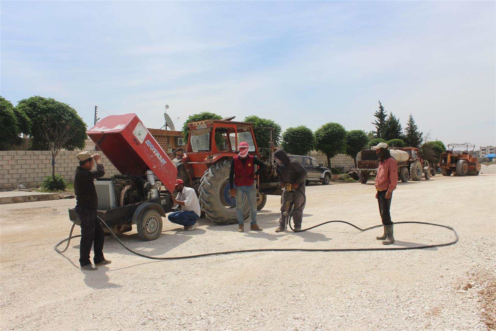 Expansion of main roads in al-Hasakah city