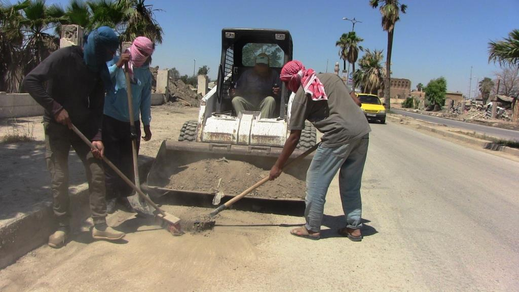 Cleaning campaigns continued in al-Raqqa , its countryside