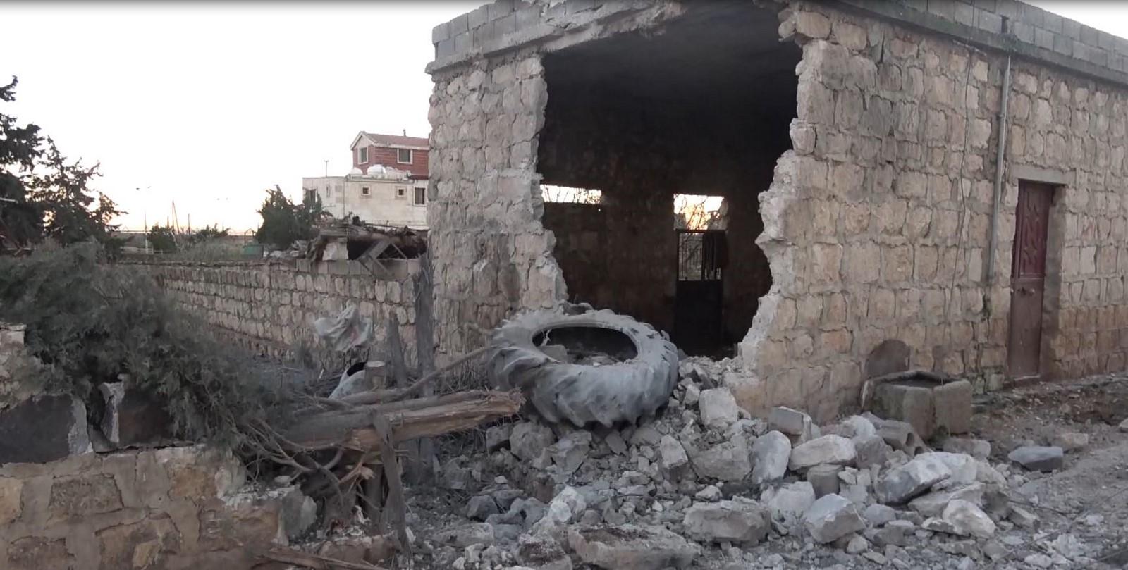 Videoed… Destruction left by Turkish bombardment