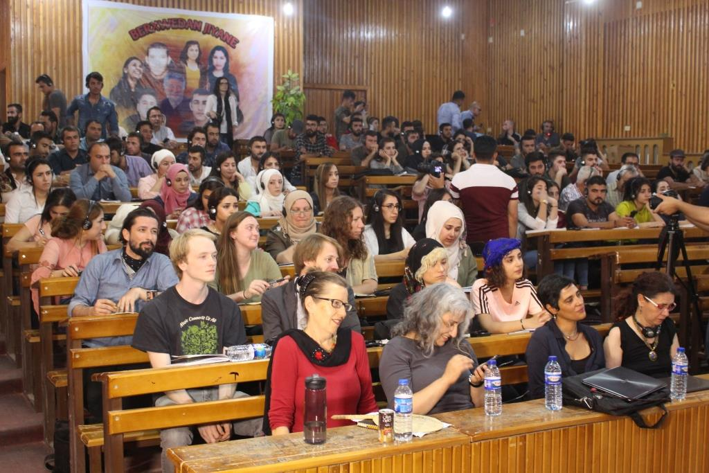 Western delegation delivered a lecture at University of Rojava