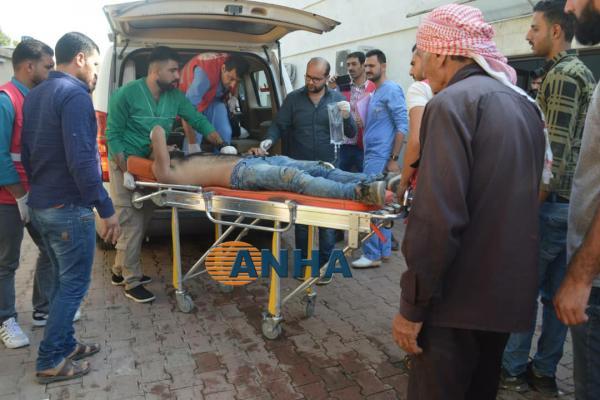 Turkish occupation warplanes shell Um al-Khair village