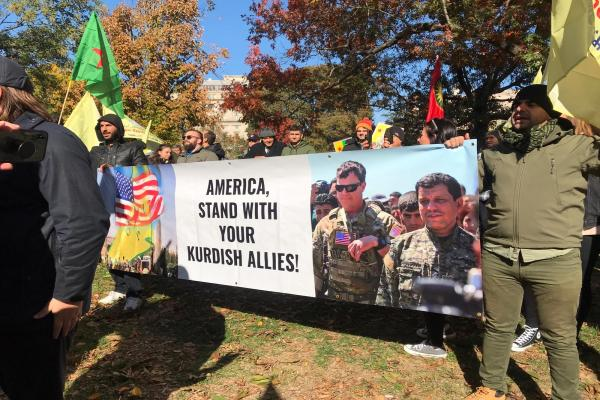 Mass protests in Washington on Trump and Erdogan's meeting