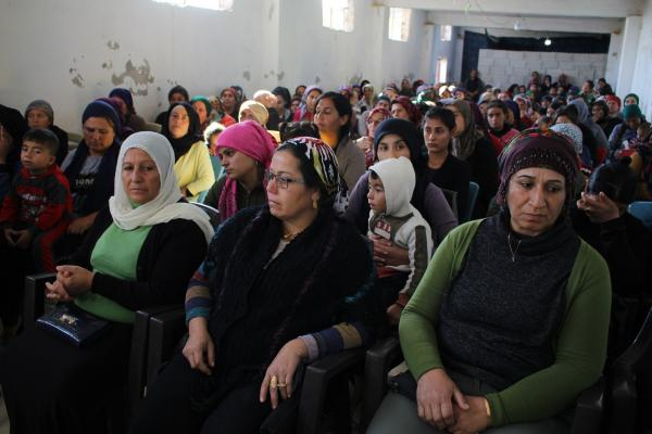 Lecture in Resistance camp on Combating Violence against Women's International Day