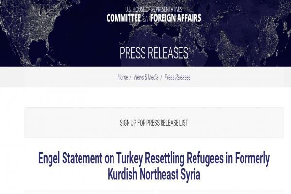US Senator: Erdogan practicing ethnic cleansing against Kurds; threatening security of the region