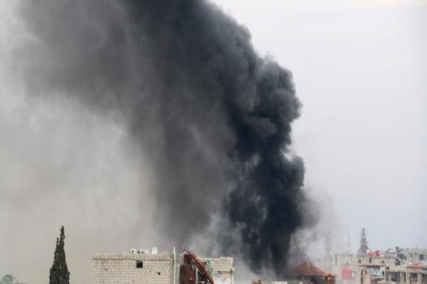 Regime on Ma'aret al-Numan, international road outskirts