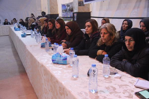 Dialogue forum in al-Shahba about woman's role in life fields