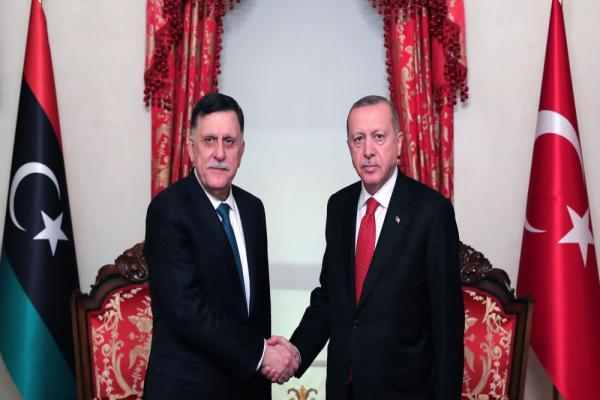 Erdogan meeting Al Serraj in Istanbul