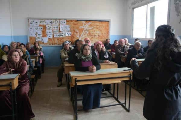 Jinology Research Center held series of awareness meetings in Euphrates region