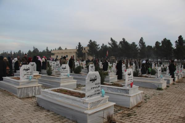 ​​​​​​​Manbij people commemorated February martyrs