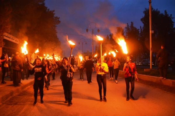 Torches demos of Revolutionary Youth demand disclosure of Ocalan's status