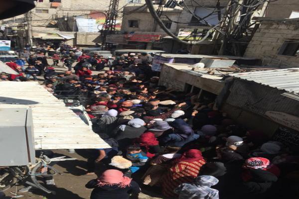 Bread crisis in Zorava neighborhood in the capital, Damascus