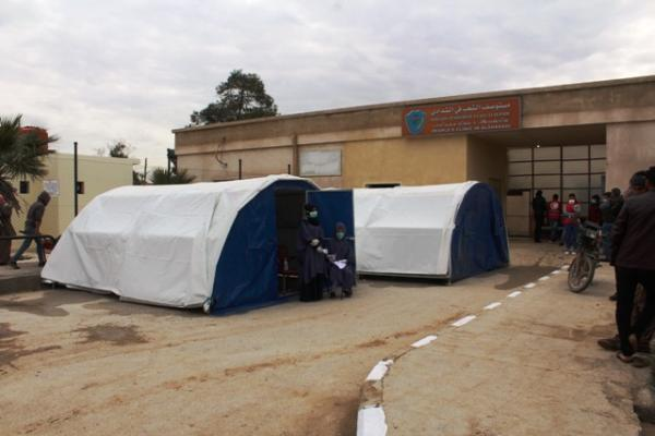 Two tents prepared in Al-Shaddadi clinic for quarantine