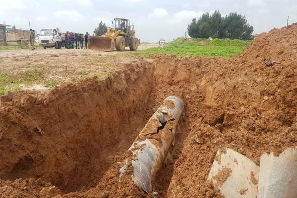 Following Turkish occupation shelling, work underway to resupply Hasakah with water