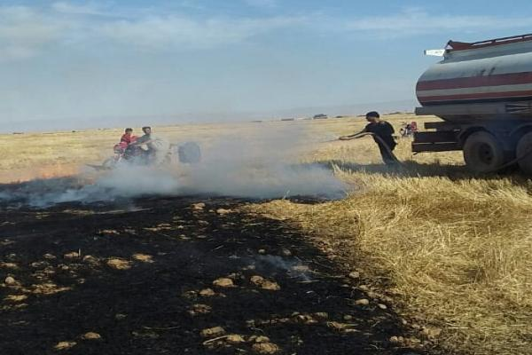 25 dunums of barley burnt in Amuda district