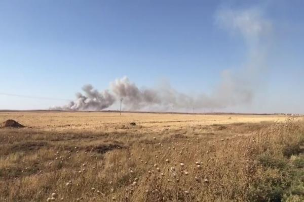 ​​​​​​​Occupation army and its mercenaries again burn crops in Tel Tamr countryside