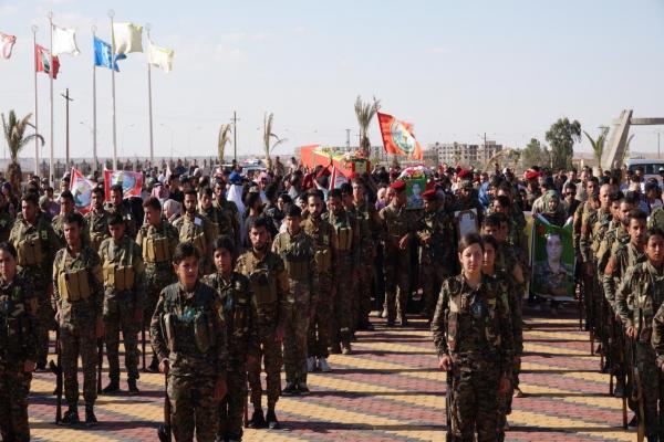Martyrs Nurjian and Al-Idlbi laid to rest in Al-Tabqa