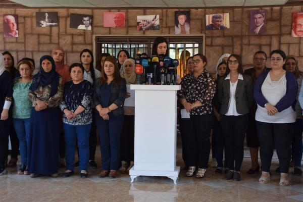 Feminist Orgs demand to put end Turkish occupation, women must be supported