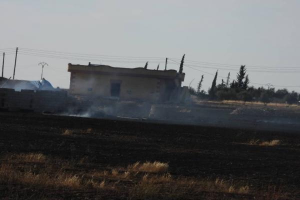 In the video ... Turkish bombing damages in villages of Ain Issa