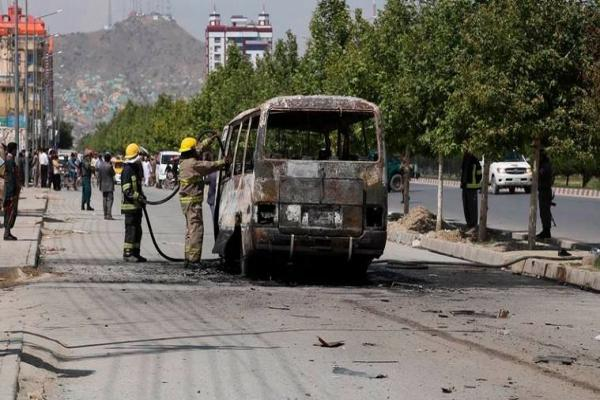 A bomb explosion of a bus in southern Afghanistan, killing nine