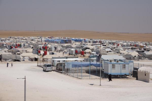 Quarantine center is underway inside al-Mahmoudly camp in al-Tabqa countryside