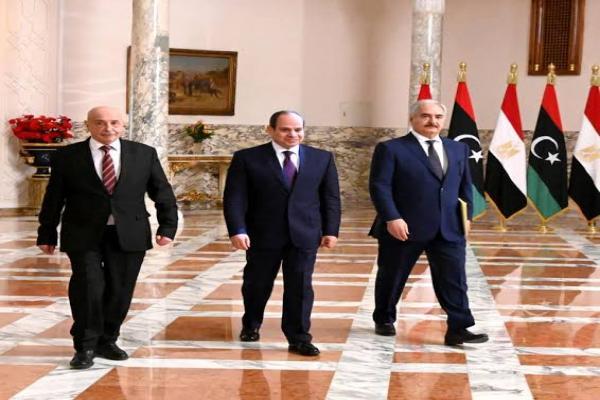 Haftar, Aqila Saleh in Cairo to discuss developments in Libyan arena