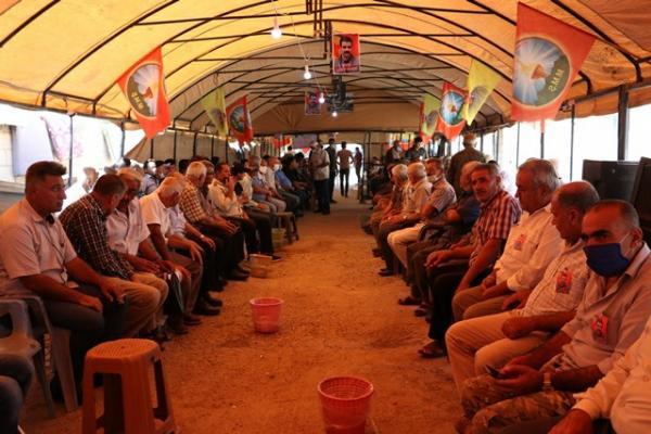 Qamishlo people praise heroic resistance in Heftanin
