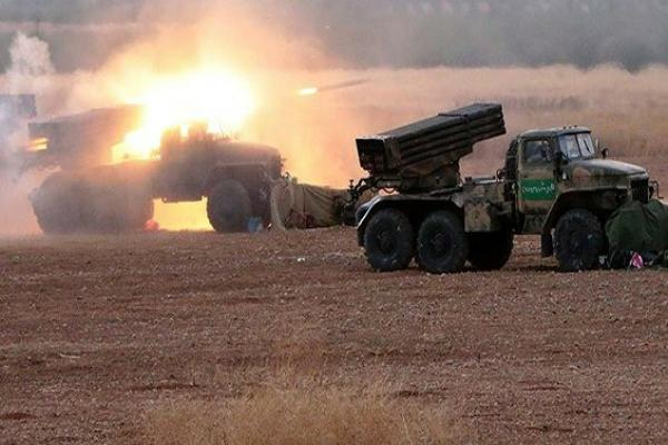 Government forces bomb Idlib and Hama countryside