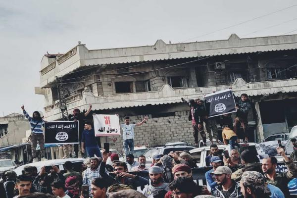 Emergence ISIS gangs in Serêkaniyê publicly
