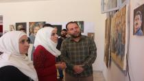 Culture and Art Committee organized plastic arts exhibition