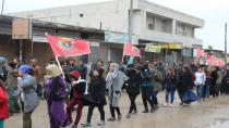 Serin youth protest against the isolation imposed on Ocalan