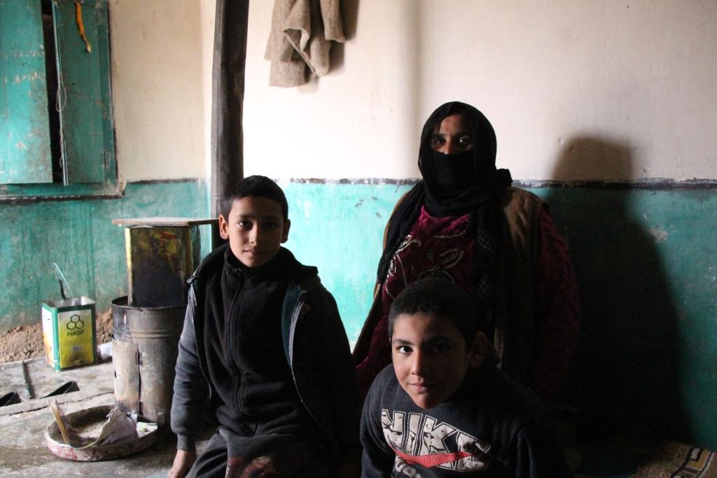 Una mujer desplazada buscó seguridad para proteger a sus dos hijos