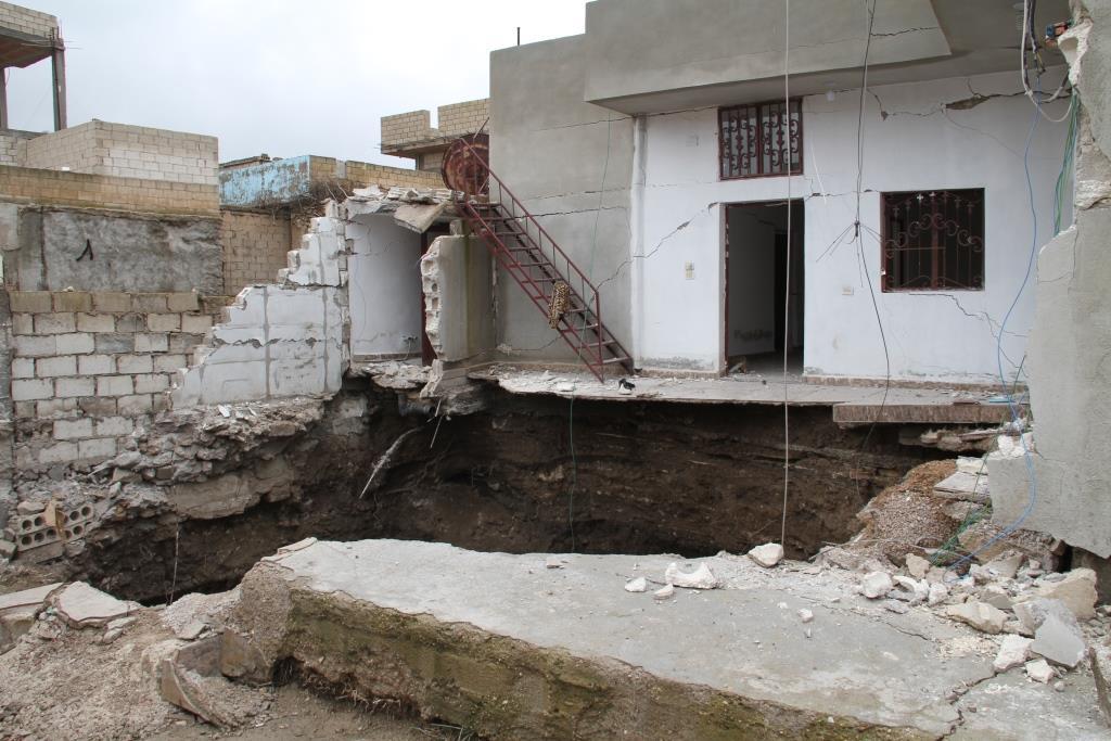 El municipio de Serêkaniyê toma medidas en derrumbes