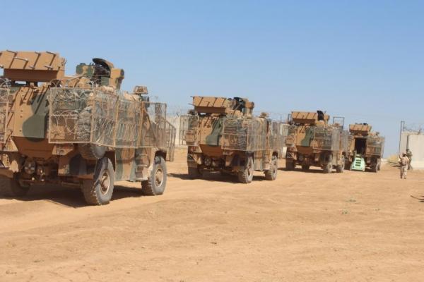 La policía militar rusa y las fuerzas de ocupación turcas realizan la 31a patrulla