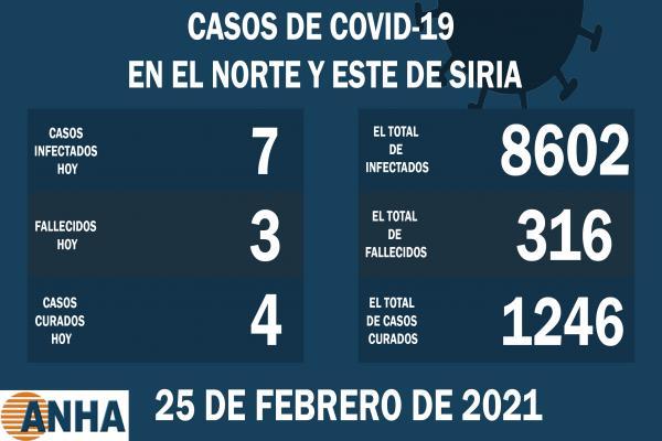 Tres muertes y siete nuevos casos de COVID-19 en el noreste de Siria
