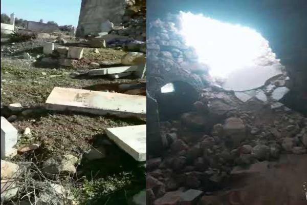Ocupación y sus mercenarios destruyen el cementerio Yazidi en Afrin