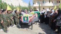 Cenazeyê şehîd Ziryan Cûdî ber bi Başûrê Kurdistanê ve hate şandin