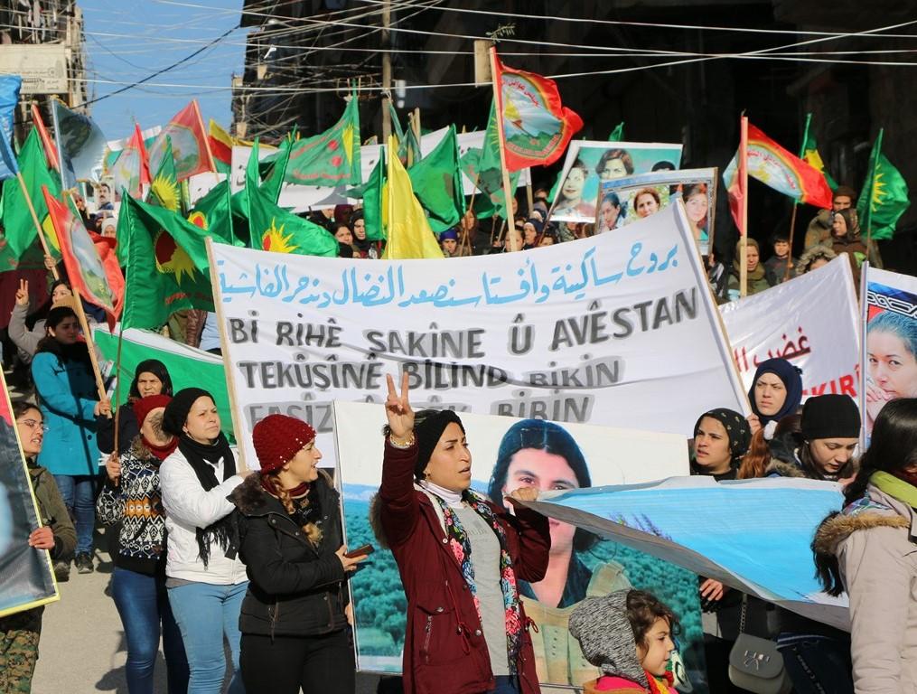 'Gelên Bakur û Rojhilatê Sûriyê li Efrînê bûn yek'