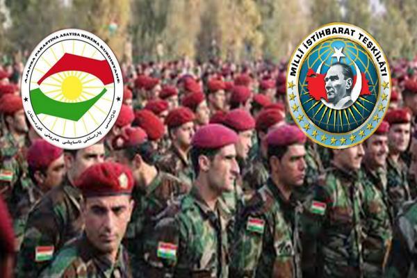 Li Başûrê Kurdistanê hevkariya MÎT-Parastinê dagirkeriya dewleta Tirk mayînde dike