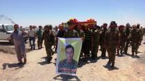 Cenazeyê şervanê QSD'ê Mihemed El-Hesen bi merasîmekê hate veşartin