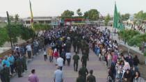 Şêniyên Qamişlo cenazeyê şehîd Musbah spart axê