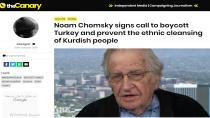 Noam Chomsky banga` Tirkiyê boykot bikin` mohr kir