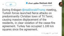 Ebdî: Di dema hevditina Trump-Erdogan de Tirkiyê bi dijwarî êriş kir