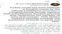 Ebdî: Dijminahiya Tirkiyê li dijî Kurdan gihaşt asta ku postek bi zimanê Kurdî ji hêla koalîsyonê ve tehemûl neke
