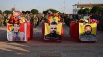 Cenazeyê şehîdê YPG'ê Omer Şêxo li Hesekê hate veşartin