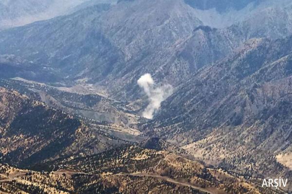 İşgalci TC uçakları Amediye köylerini bombaladı